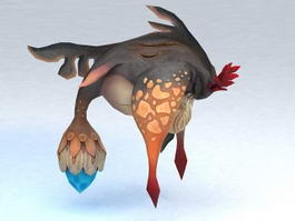 Fish Monster Animated & Rigged 3d model preview