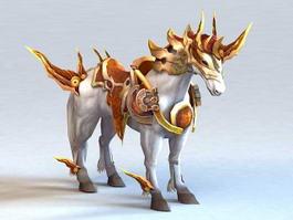 Medieval War Horse 3d model preview