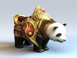 Giant Panda Mount 3d model preview
