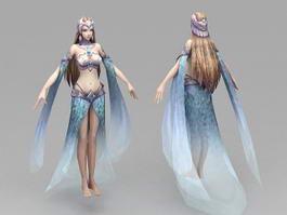 Beautiful Princess 3d model preview
