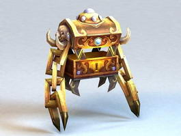 Metal Golem 3d preview