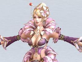 Medieval Queen 3d model preview