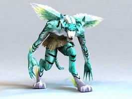 Humanoid Tiger 3d model preview