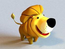 Little Cartoon Lion Rigged 3d model preview