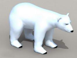 Arctic Polar Bear 3d model preview