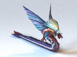 Quetzalcoatl Serpent 3d model preview