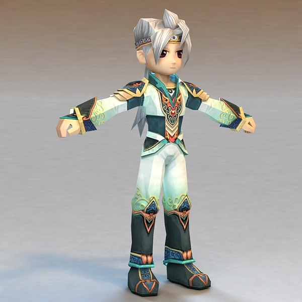 Anime Fighter Boy 3d Model 3ds Max Files Free Download