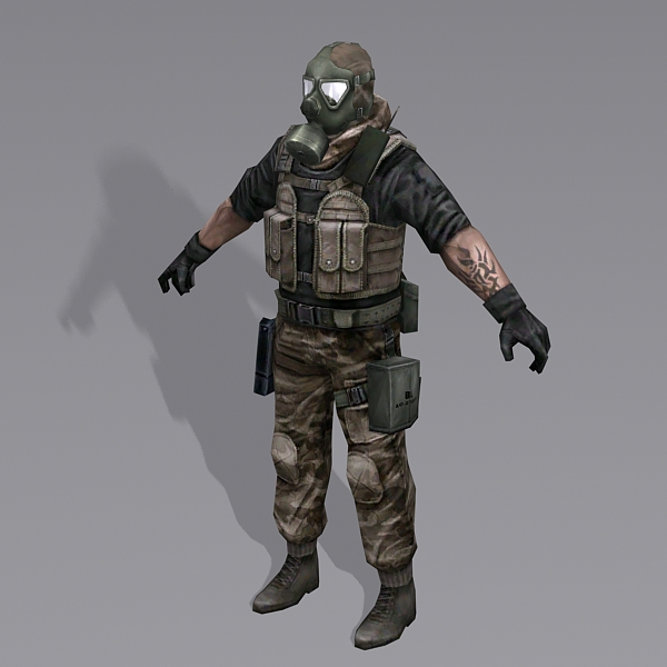 Combine Soldier 3d Model 3ds Max Files Free Download