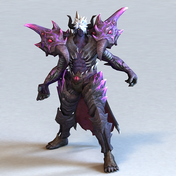 Demon Warrior Animated Rigged 3d rendering
