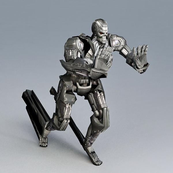 Combat Fighting Robot 3d rendering