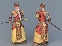 Anime Shaolin Monk 3d preview