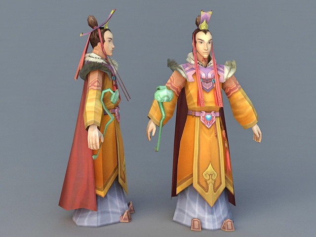 Ancient Chinese Imperial Prince 3d rendering