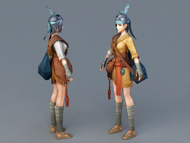 Asian Fantasy Girl 3d rendering