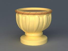 Outdoor Flower Pot Urn 3d preview