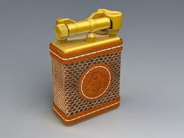 Vintage Cigarette Lighter 3d preview