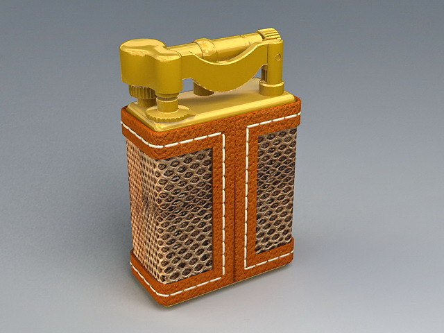 Vintage Cigarette Lighter 3d rendering