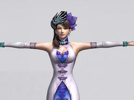 Traditional Chinese Lady 3d model preview