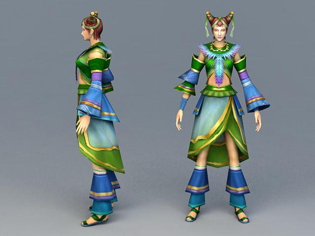 Spring Fairy 3d rendering