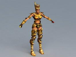 Ancient Egypt Queen Rigged 3d preview