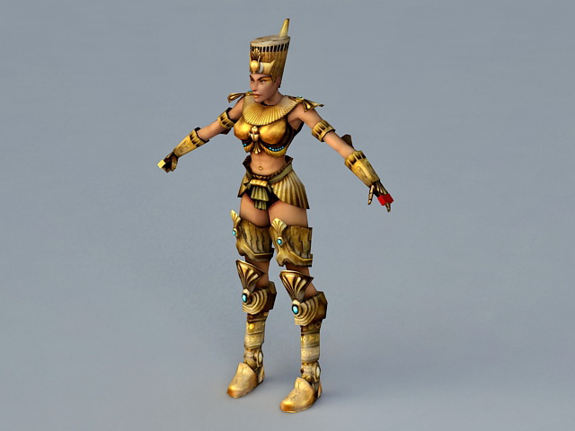 Ancient Egypt Queen Rigged 3d rendering