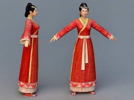 Chinese Han Dynasty Woman 3d preview