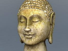 Oldest Buddha Head Statue 3d model preview