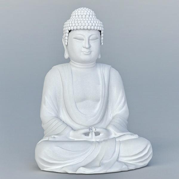 Chinese Buddha Statue 3d rendering