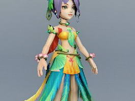 Peacock Fairy Goddess 3d preview