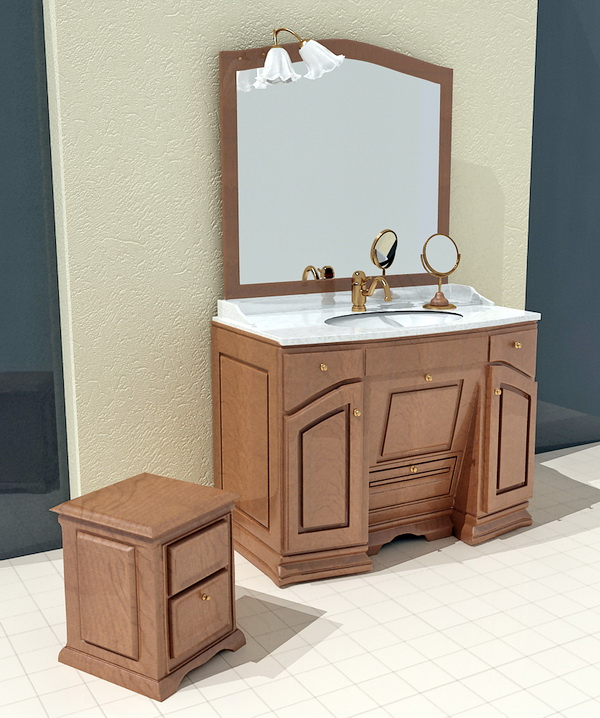 Country Bathroom Vanities 3d rendering