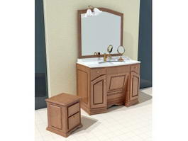Country Bathroom Vanities 3d preview