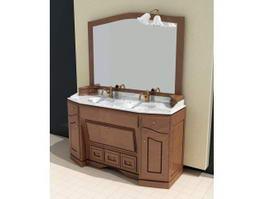Vintage Style Bathroom Vanity 3d preview
