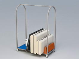Hotel Luggage Cart 3d preview