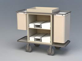Hotel Housekeeping Cart 3d preview