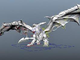 Dark Evil Dragon 3d model preview