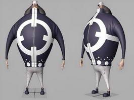 One Piece Bartholomew Kuma 3d model preview