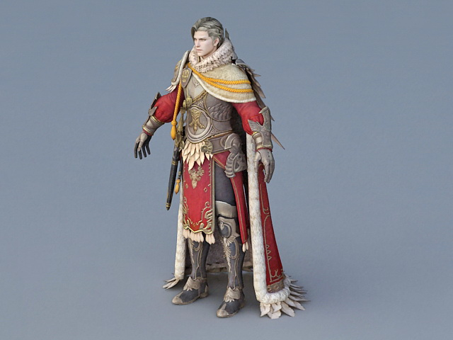 Medieval Guard Captain 3d rendering