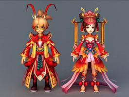 Ancient Chinese Couples 3d preview