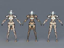 Dark Elf Armor Set 3d preview