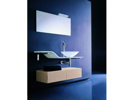 Modern Art Deco Bathroom Vanity 3d preview