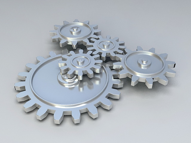 Mechanical Gears 3d rendering