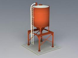 Frac Sand Storage Silo 3d preview