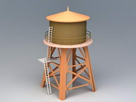 Water Storage Silo 3d preview