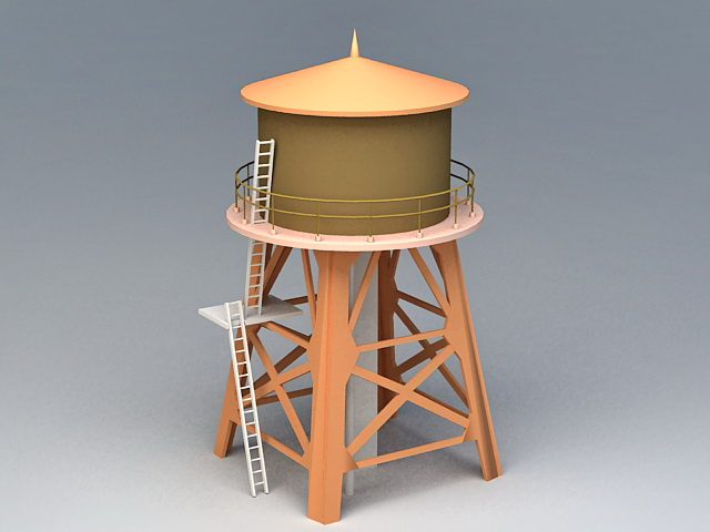 Water Storage Silo 3d rendering