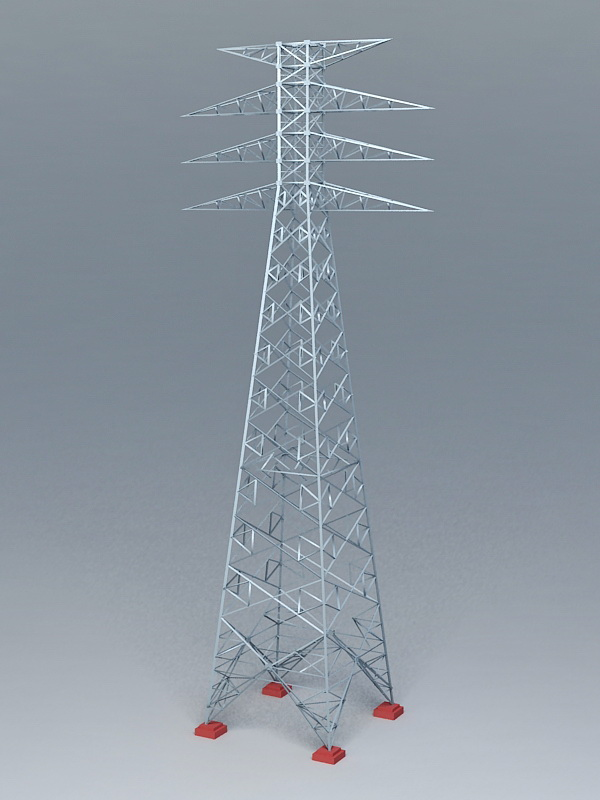 Transmission Power Tower 3d rendering