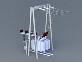 Electrical Transformer 3d preview