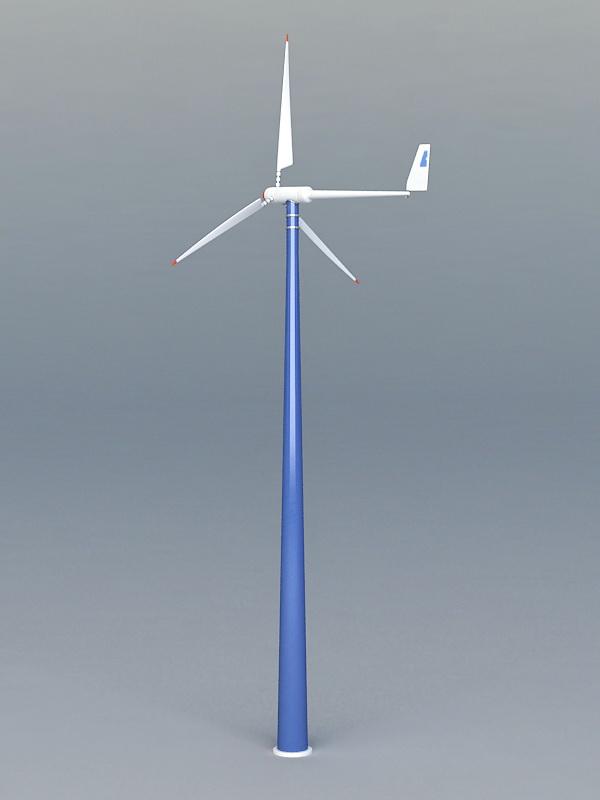 Wind Turbine 3d rendering