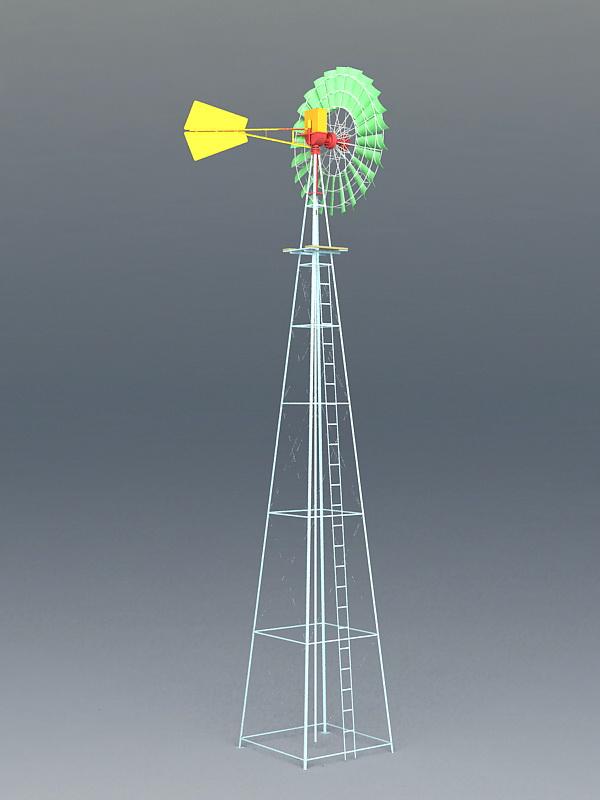 Cool Wind Turbine 3d rendering