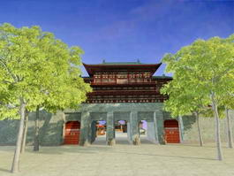 Ancient Chinese City 3d model preview