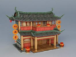 Ancient Chinese Tavern 3d preview