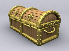Pirate Treasure Chest 3d preview